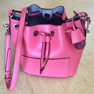 100% Authentic Michael Kors Coral Greenwich Bag